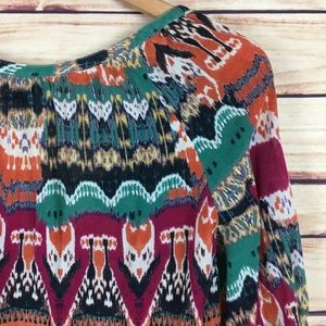 Lucky Brand Tops - Lucky Brand Colorful Split Neck Top 3/4 Sleeves L